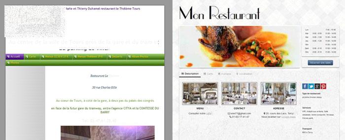 comparaison vitrine restaurant