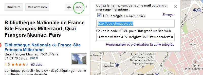 option google maps
