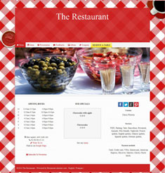 bistro website theme